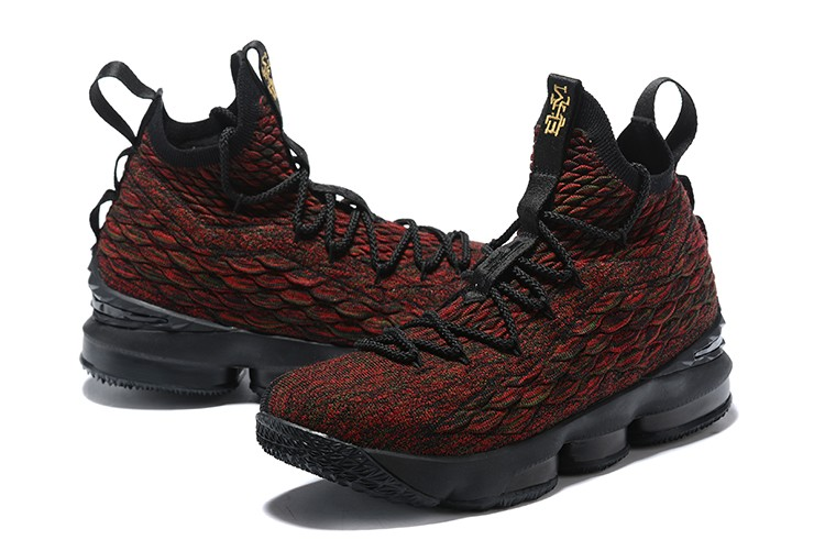 b85fdeb7fb4a6 Outlet Nike LeBron 15  BHM  Black Multi-Color AA3857-900