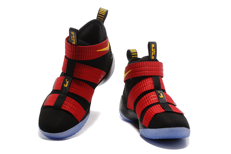 1c600bd8a48 Outlet Nike LeBron Soldier 11 Black Red Yellow PE