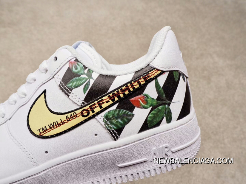 476368504306f0 Independent Creative Customized Virgil Abloh Designer Paired OFF-WHITE X  Nike Air Force 1 Low