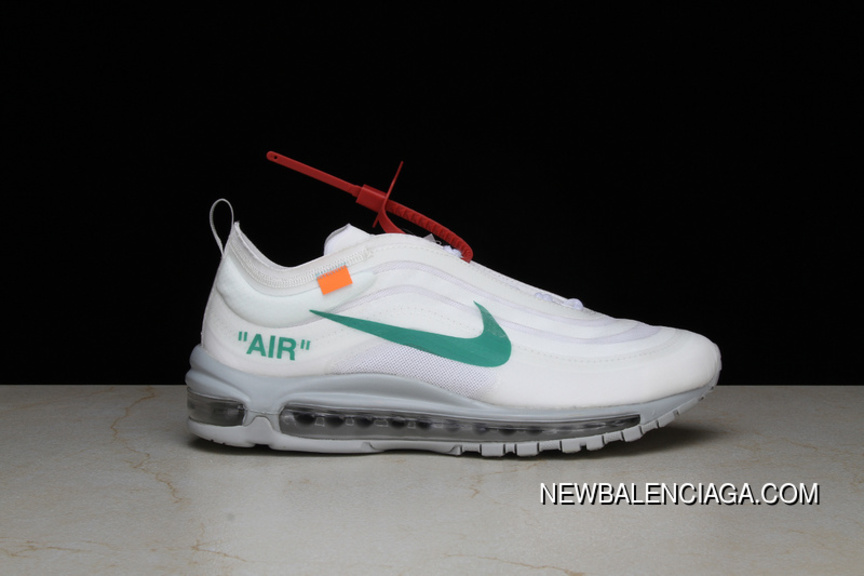 promo code 06469 5b4a3 P26 OFF-WHITE X Nike Air Max 97 Bullet Running Shoes Collaboration  Publishing Women Shoes