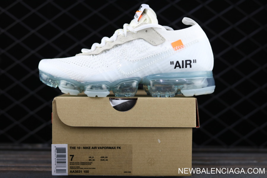 d03c38162f3 New Release Off-White X Nike Air VaporMax FK White Total Crimson-Black