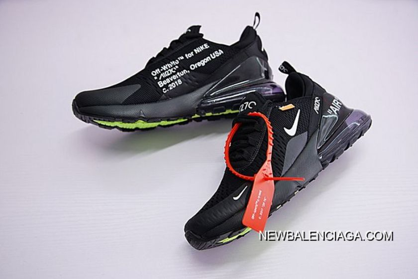 7e7087c6db2 Latest Men Off White X Nike Air Max 270 Running Shoe SKU 198316-267 ...