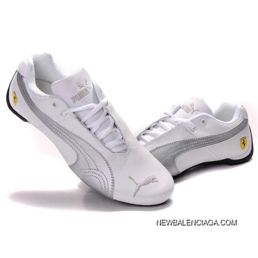 Top Deals Puma Future Cat GT Ferrari Classic Shoes In White Sier ... 8b5b88276