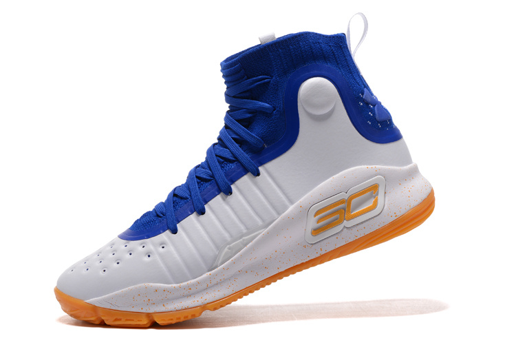 lowest price 362a1 effeb Outlet Under Armour Curry 4 White/Royal Blue-Gum, Price: $93.33 ...